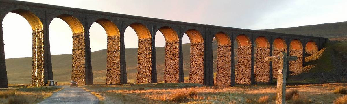 The Ribblehead viaduct on the Pennine Way