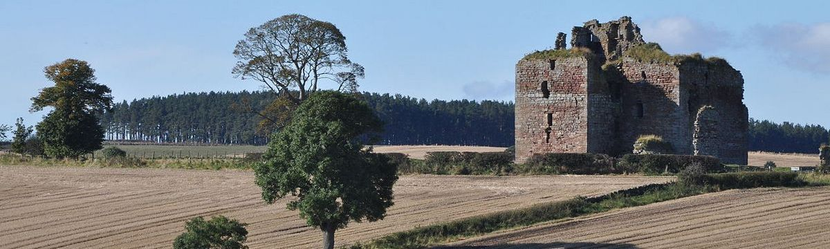 Cessford Castle on St Cuthbert's Way