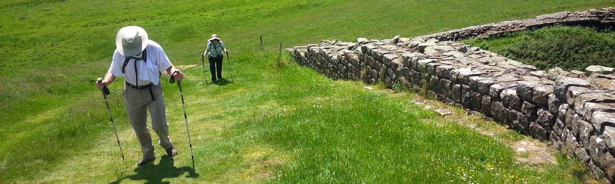 Walkers on the Hadrian's Wall path