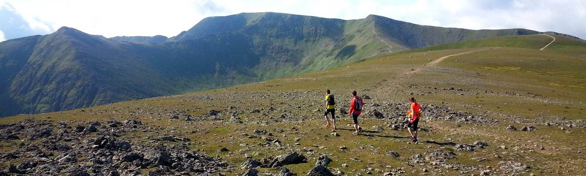 Heading for Helvellyn on the Bob Graham