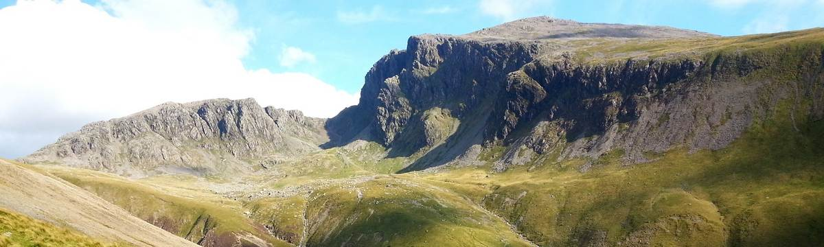 The crags of Scafell from above Wasdale