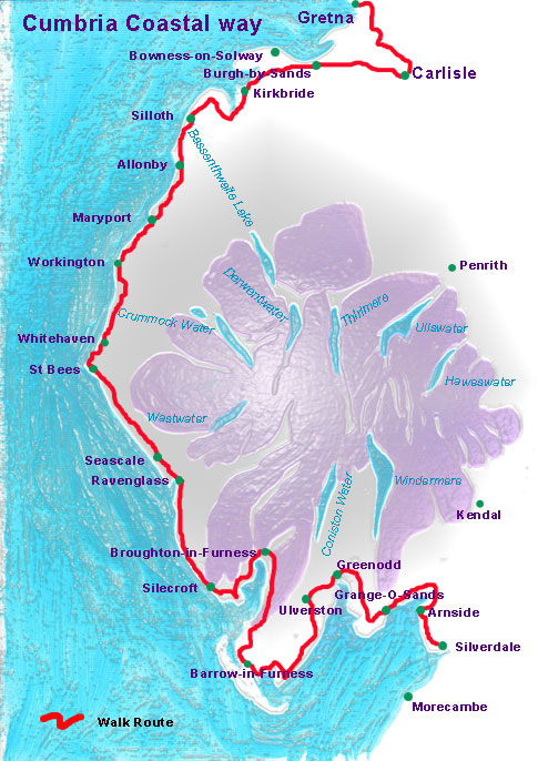 Cumbria Coastal Way Map