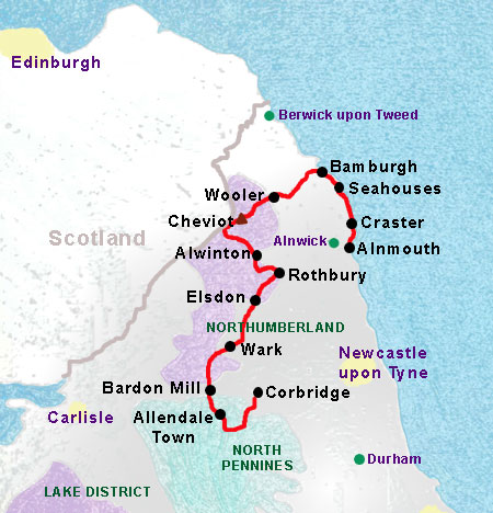 Reivers Way Map